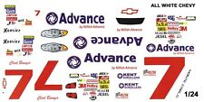 #7 Clint Bowyer Advance 2005 Monte Carlo 1/25th - 1/24th Scale Waterslide Decals