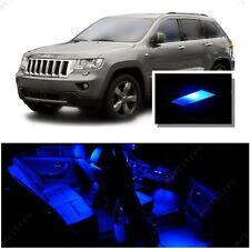For Jeep Grand Cherokee 2011-2016 Blue LED Interior Kit + Blue License Light LED