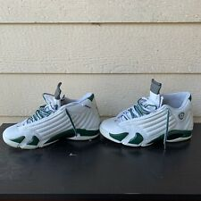 Nike Air Jordan 14 Retro Forest White Sneakers Men Green Kicks 13