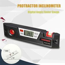 LCD Digital Angle Finder Gauge Bevel Box Protractor Inclinometer Spirit Level S&