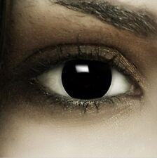 Farbige Halloween Kontaktlinsen Black schwarz schwarze ohne Stärke Crazy Fun