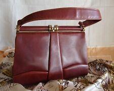 petit sac vintage en cuir bordeaux