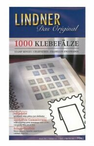 Pack of 1,000 folded stamp hinges - German made, Lindner branded pack