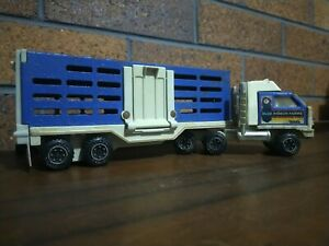 Tonka Truck Semi Cattle Crate Pressed Steel & Plastic Collectable Toy