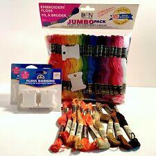 DFN Embroidery Floss Jumbo Pack 105 Skeins + 10 Skeins DMC France + 68 Bobbins