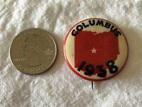1938 Columbus Ohio Vintage Pinback Button #37397