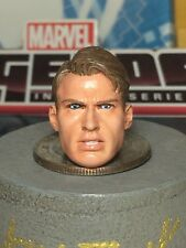 MARVEL LEGENDS PAINTED/FITTED R.S H.T CAP. STEVE ROGERS 1:12 HEAD CAST FOR 6 IN