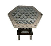 Handmade Moroccan Mother of Pearl Folding Side Coffee Table