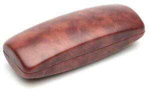 NEW Nice Large Brown Sunglasses Eyeglasses Glasses Hard Case / Cleaning Cloth