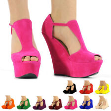 Wedge Peep Toes Synthetic Casual Heels for Women