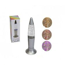18.5 cm MINI COLOUR CHANGING GLITTER DESKTOP LAMP RELAXING SOOTHING LAVA LAMP