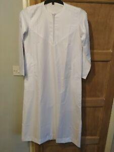 Boys Thobe Thoub Thawb Jubba Arab Islamic Muslim Clothing - White Zipped