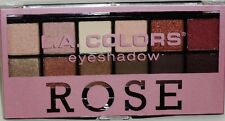 LA COLORS Eye Shadow Palette 12 Shades Of Color & Double End Brush ROSE Sealed