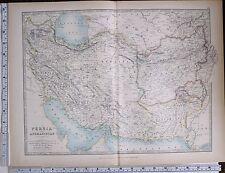 1903 GRANDE MAPPA Persia & Afghanistan LURISTAN khuzistan farsistan Kerman