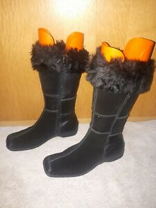 CAPRICE ladies boots Black High Knee In Excellent Condition  Size 6.5