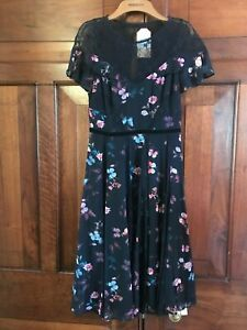 MONSOON Dress UK 8 Butterflies and Lace Party Christmas BNWT £129