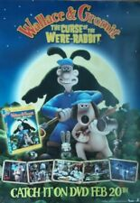 WALLACE & GROMIT CURSE OF THE WERE RABBIT UK DVD MOVIE PROMO POSTER AARDMAN