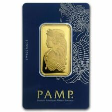 1oz Pamp Suisse .9999 Fine Gold Bar Lady Fortuna with Veriscan - Free Shipping