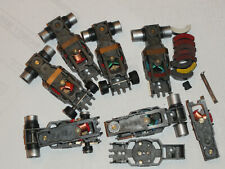 Aurora Afx Ho Slot Car 4 Gear Chassis Lot Used For Parts Or Repairs Good Stuff!