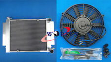 4pass 3core Mazda RX2 RX3 RX4 RX5 RX7 Aluminum Radiator with Heater pipe MT +fan