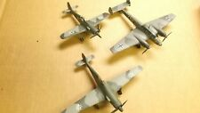 lot of 3 built 1/72 Airplanes for parts or Junkyard FW-190,TA-152,BF-110