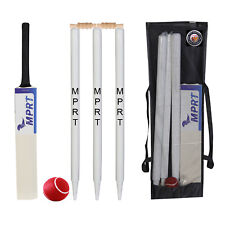 Complete Cricket Kit Popular Willow Bat,3 Wickets,Ball,Bail For 13-15 Year Child