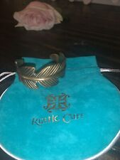 Rustic Cuff Gold Feather Bracelet NEW