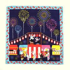 Japanese Cotton Furoshiki Cloth Matsuri Summer Festival Rabbit TB81