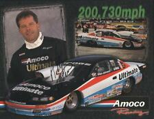 2001 Allen Johnson signed Amoco Dodge Avenger Pro Stock NHRA postcard