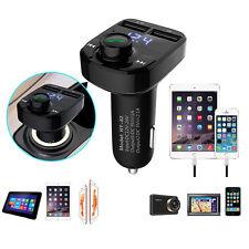 Dual USB Car Wireless Bluetooth MP3 Player FM Radio Transmitter Charger Set