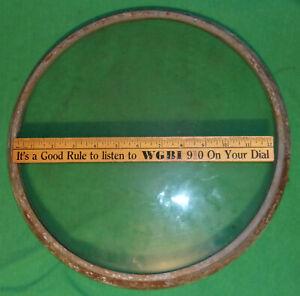 13 Inch Zenith TV Round Glass Front Lens w/ Bezel Porthole 1940's Clean Lens!