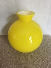 "Crate And Barrel Yellow Candy Vase  6.25"" With Tags-Poland"