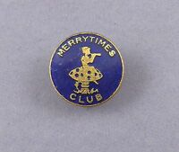 Merry Times Vintage Enamel Badge - Hull Daily Mail Newspaper