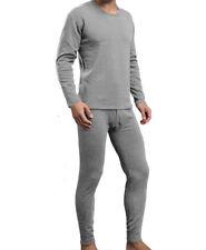 Mens Winter Ultra-Soft Fleece Lined Thermal Long John Underwear  Light Gray XL