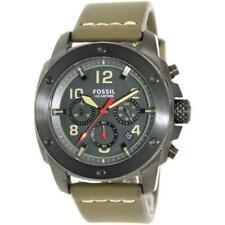 Fossil Men's FS5000 Modern Machine Chronograph Leather Watch