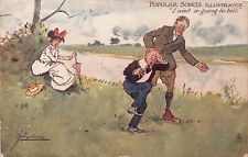 POSTCARD  COMIC   POPULAR  SONGS  ILLUSTRATED  I ain't going..  THACKERAY  Tuck