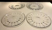 """Rare *VINTAGE* Baccarat Crystal Set of 4 Luncheon Plates 7 1/2"""""""