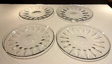 Rare *VINTAGE* Baccarat Crystal Set of 4 Luncheon Plates 7 1/2""