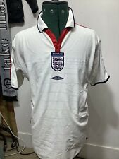 Inglaterra Camiseta De Fútbol 2003 2005 Kit De Clásicos Estilo Retro Umbro Talla L Reversible
