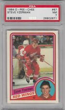 1984 O - Pee - Chee, Steve Yzerman, Detroit Red Wings, PSA 7, NM