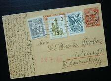 Yugoslavia 1961 Croatia Austria Uprated Postal Stationery  C11