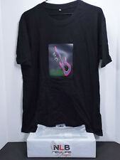 Sound Activated Light Up Rock T-Shirt Black Size XL FLASHING MUSIC WEAR