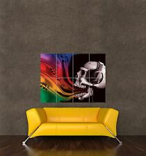 Poster Print Painting Trippy Horror Psychedelic Skull Rainbow Music Seb304