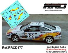 DECAL/CALCA 1/43; Opel Calibra; Doctor-Bandenberg; Rally Catalunya 1993
