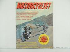 Vintage Jan 1967 MOTORCYCLIST Magazine Jawa Honda CB450 Scooter Ducati L3503