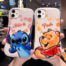 Stitch Case For iPhone 11 Pro Max Xs X 8 7 Winnie the Pooh Waistline Armor Cover