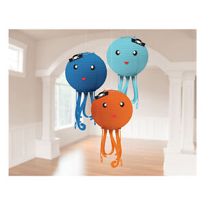 3 x Hanging Octopus Lanterns Under the Sea Theme Party Decorations