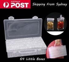 64 Slots Bottles Diamond Painting Storage Box Art Nail Rhinestone kit AU