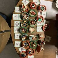 Vintage Norman Rockwell Christmas ornaments 21 Ornaments 1986, 87, 88.