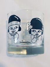 Old fashioned Vintage Drinking Glass Set By James G. Swinnerton Canyon Kiddies